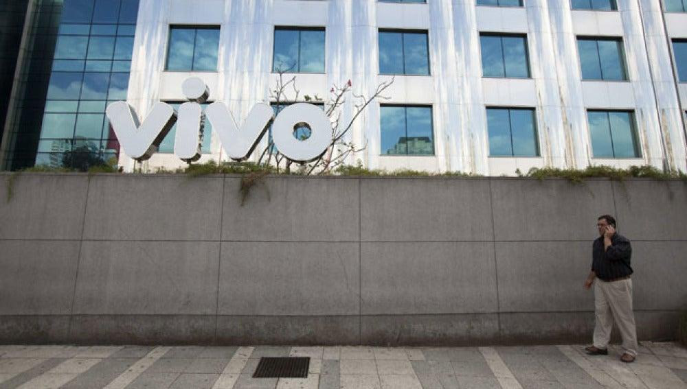 Fachada del edificio de Vivo en Sao Paulo
