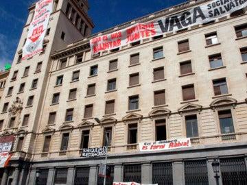 Okupas en el Banco de Crédito de Barcelona