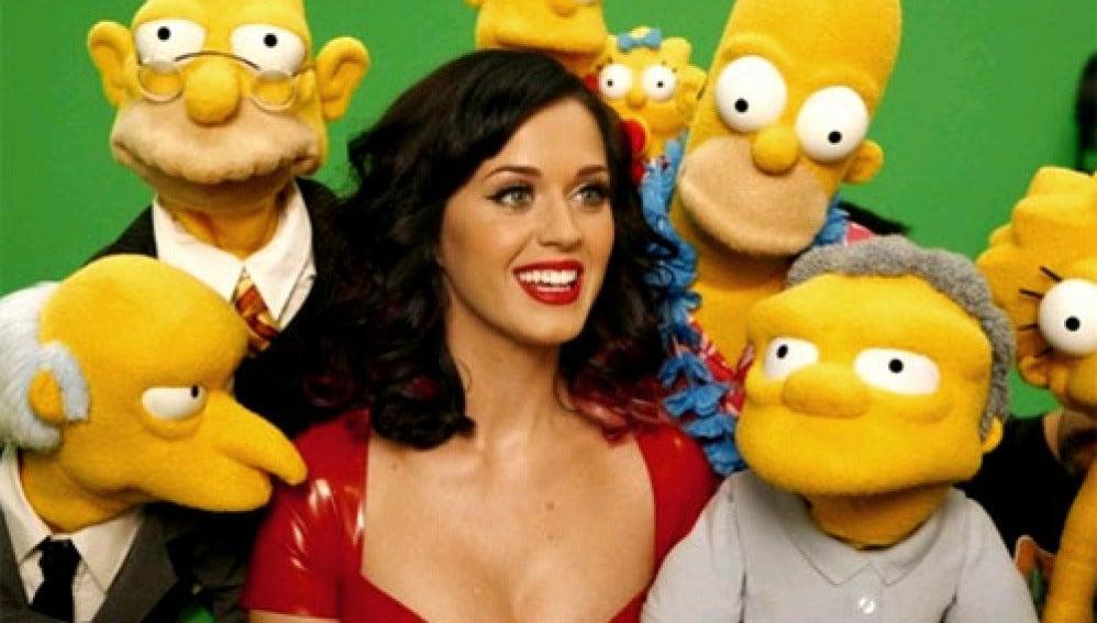 Katy Perry y Los Simpson