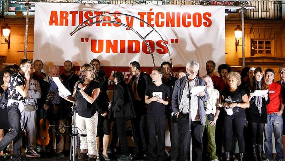 Actores con la huelga general