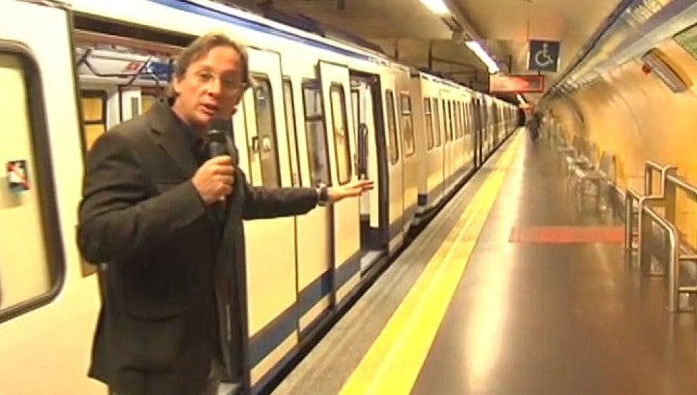 El metro de Madrid vacío