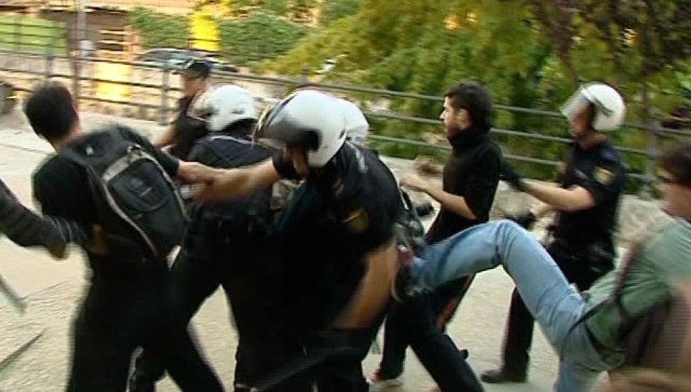 Antidisturbios en Sevilla