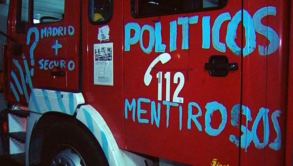 Los bomberos en la huelga general