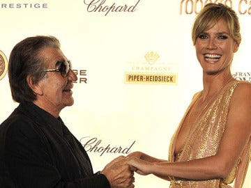 Roberto Cavalli y Heidi Klum