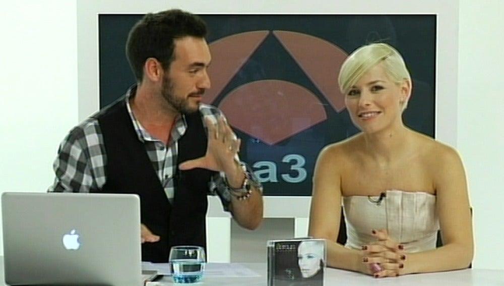 Soraya Arnelas durante el videoencuentro