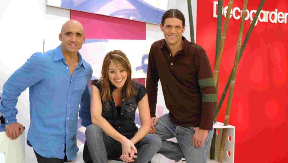 Yolanda Alzola, Iñigo Segurola y Jacinto Legarda