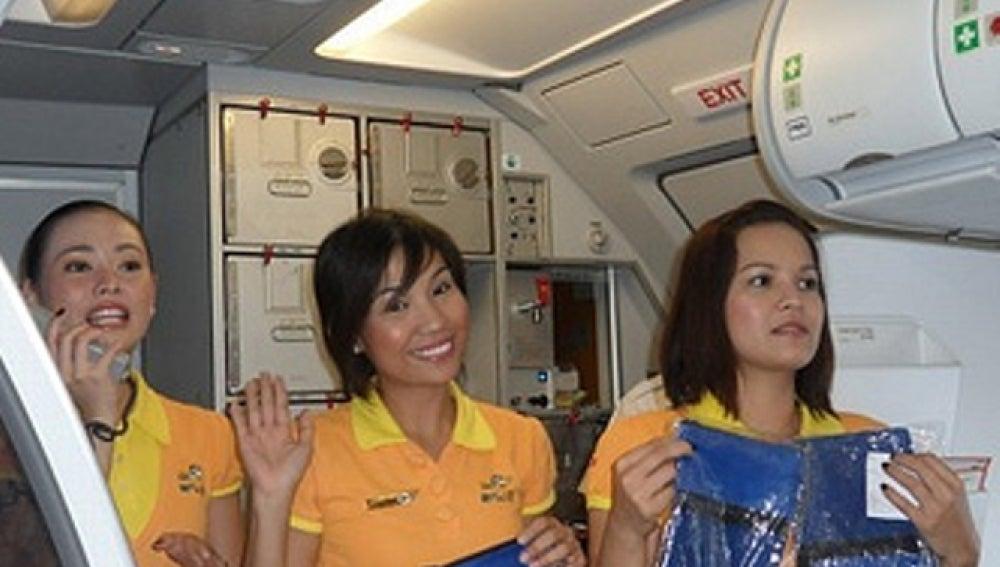 Las azafatas de la aerolínea CEBU