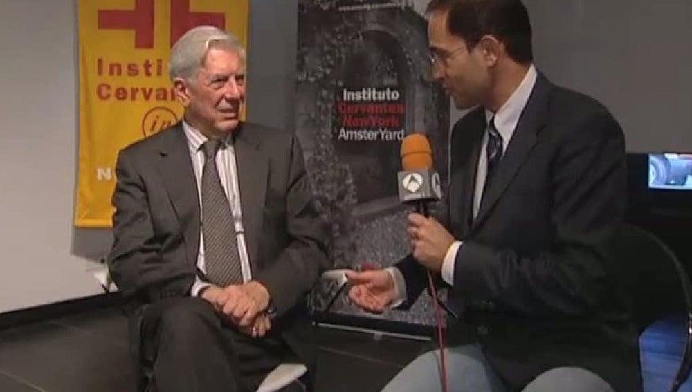 José Ángel Abad, con Vargas Llosa