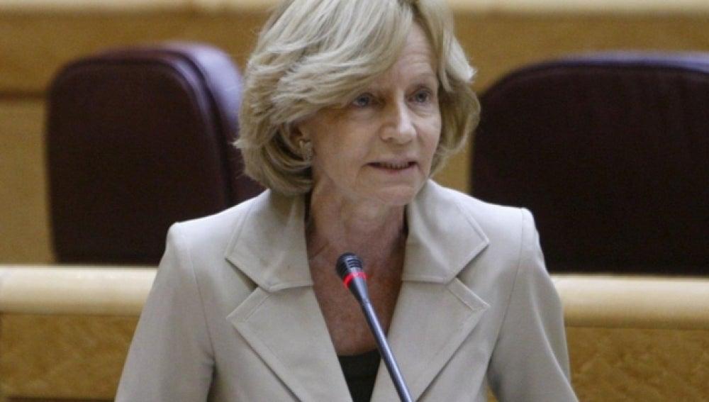 La ministra Elena Salgado