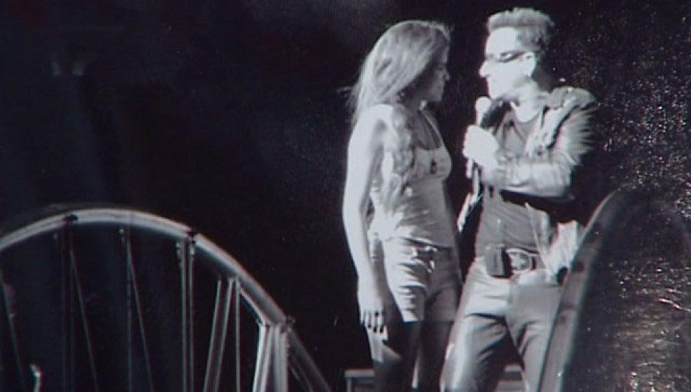 Momento en el que coincidieron en el escenario