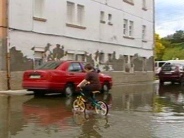 Calles inundadas en Betanzos