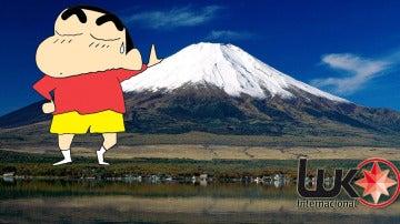 Shin Chan en el monte Fuji