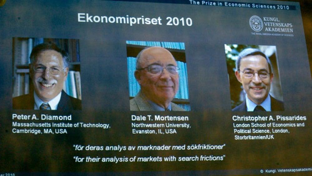 Los tres galardonados con el Nobel de Economía