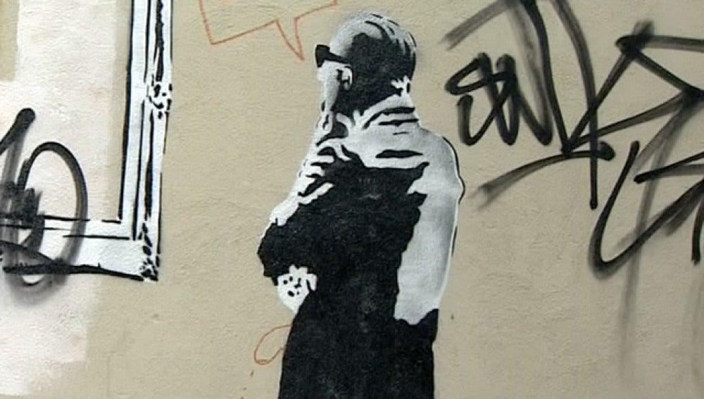 Aparece en San Sebastián un posible grafiti de Bansky