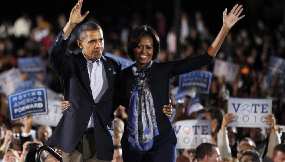 Barack y Michelle Obama, mitin en Ohio