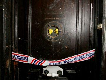La puerta de la vivienda en Tarragona