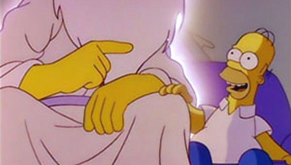 Homer Simpson 'charla' con Dios