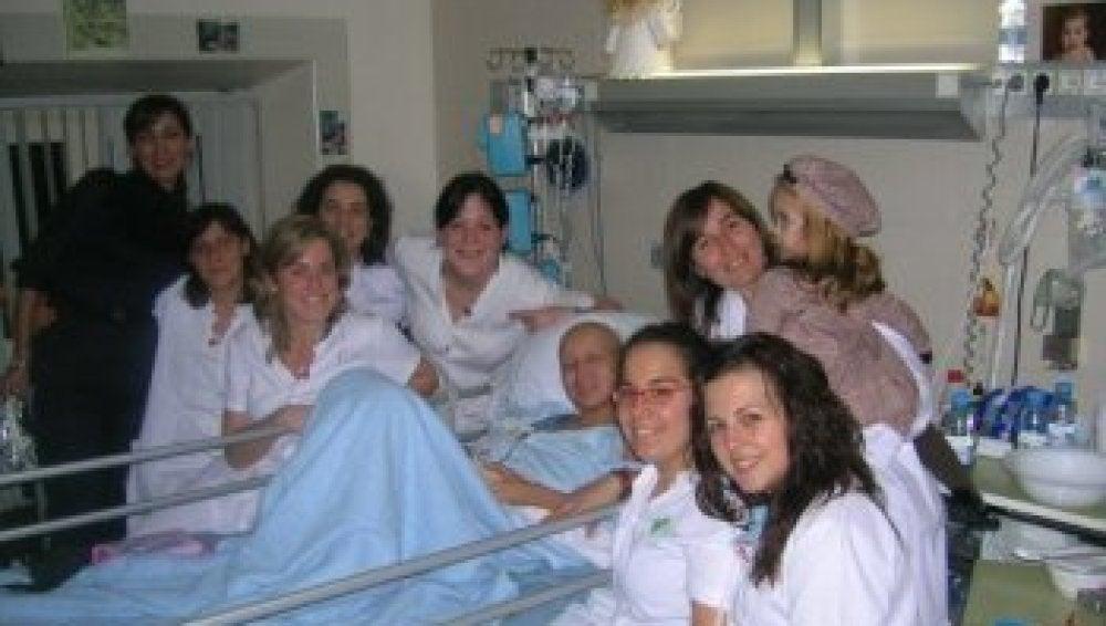 Ximena durante su estancia en el hospital