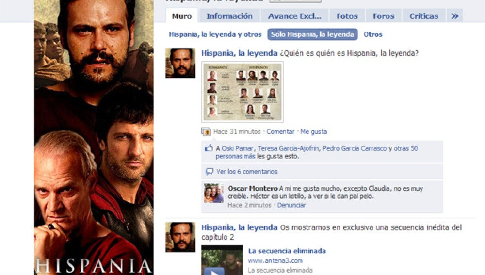 Hispania en Facebook
