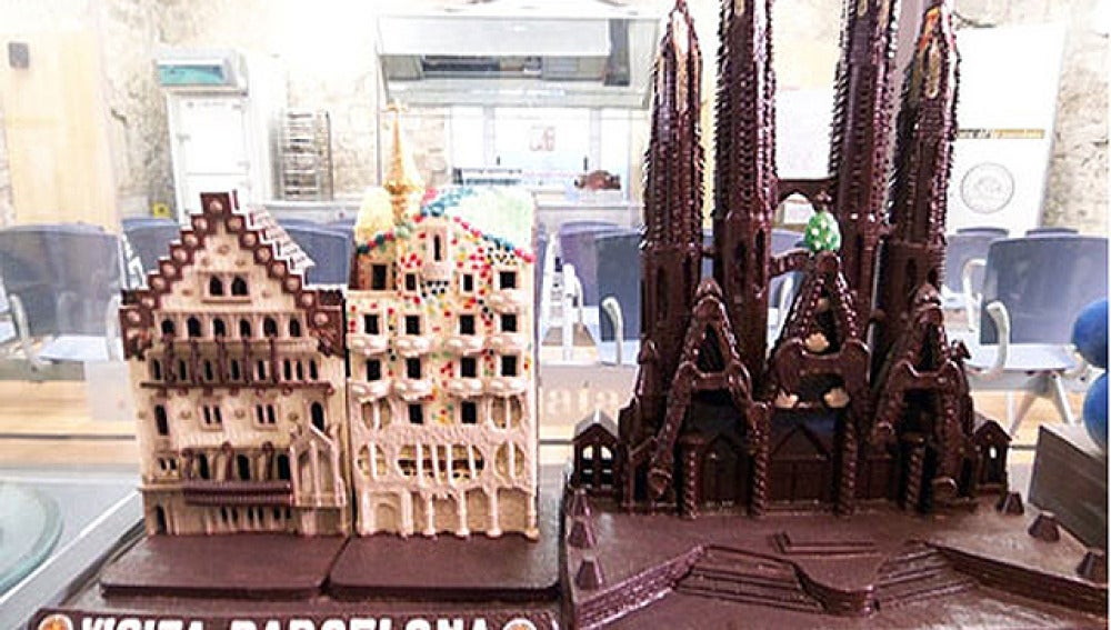 Una Sagrada Familia de chocolate