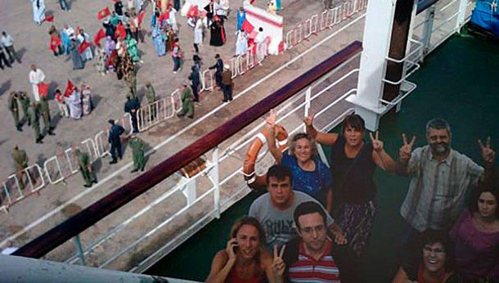 Los activistas retenidos en el puerto de El Aaiún