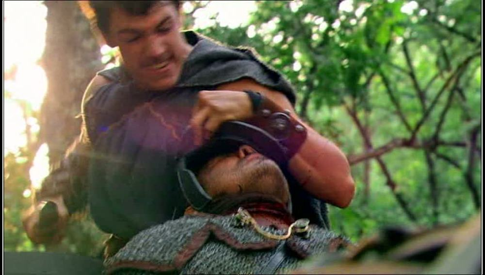 Viriato y sus amigos asaltan a los romanos
