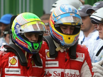Massa y Alonso en Interlagos