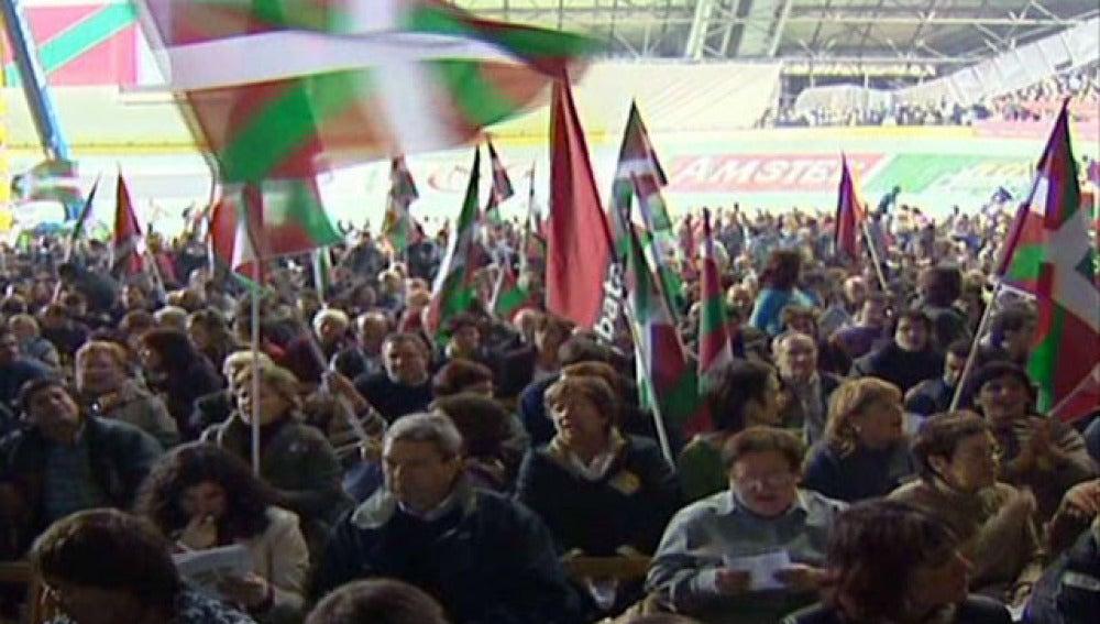 Acto independentista en el País Vasco