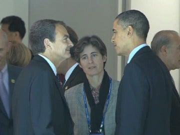 Zapatero y Obama en la cumbre del G20 en Seúl