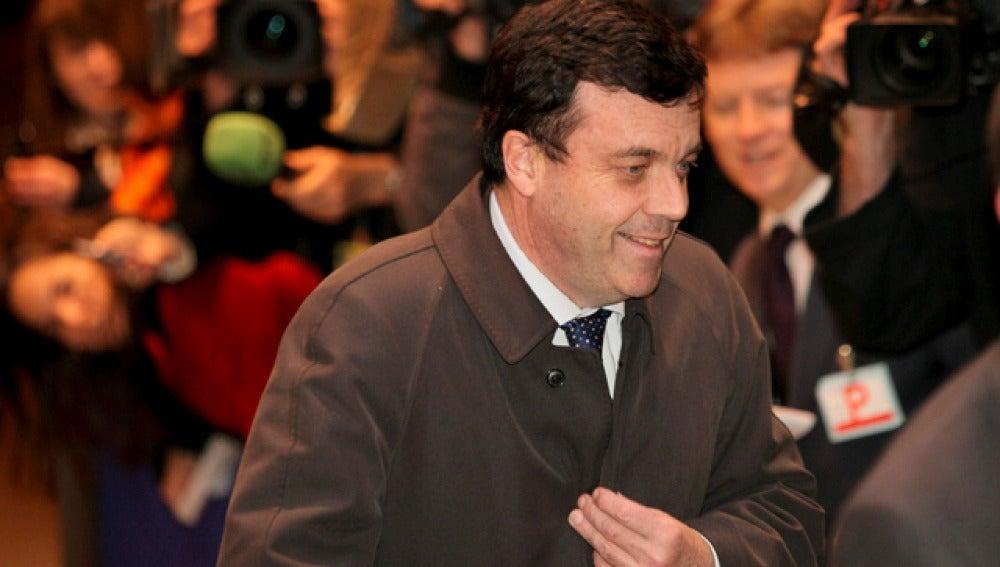 El ministro irlandés de Economía a su llegada a la reunión del Ecofin