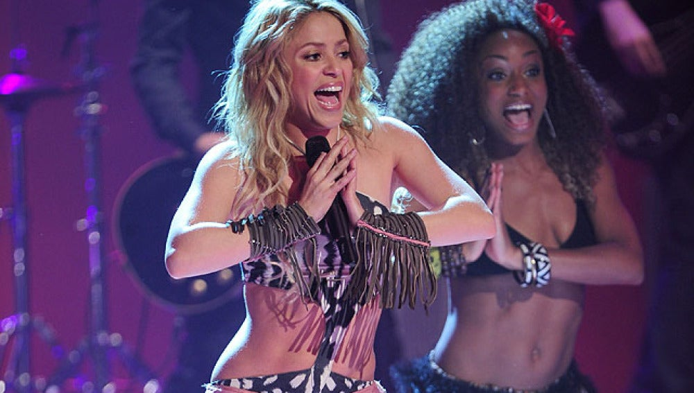 Shakira baila el waka waka en Madrid