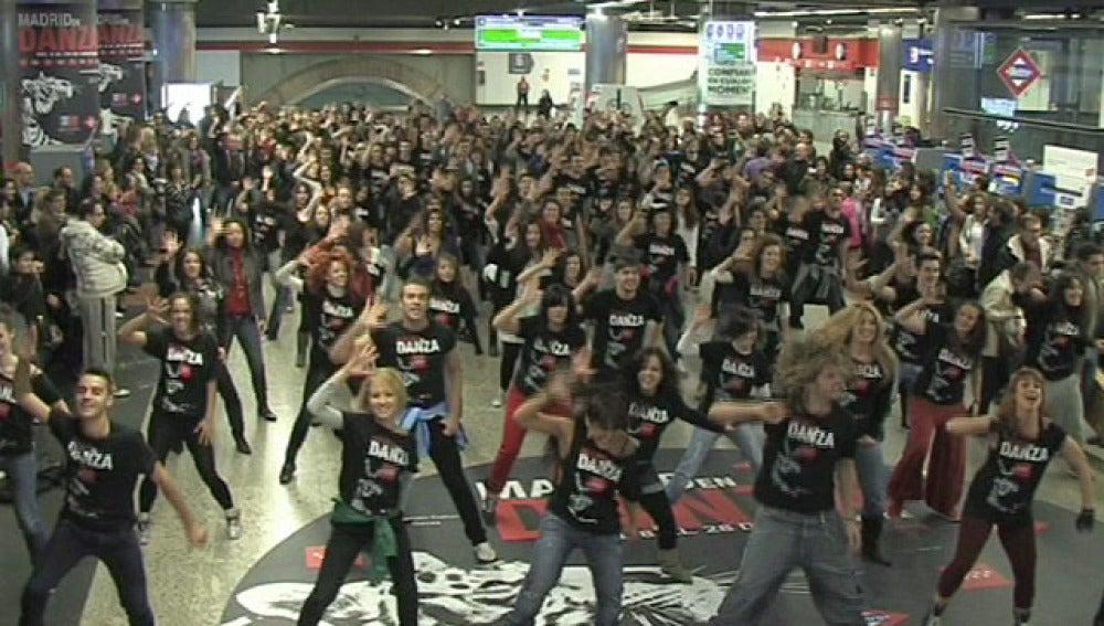 Flashmob en el metro de Madrid
