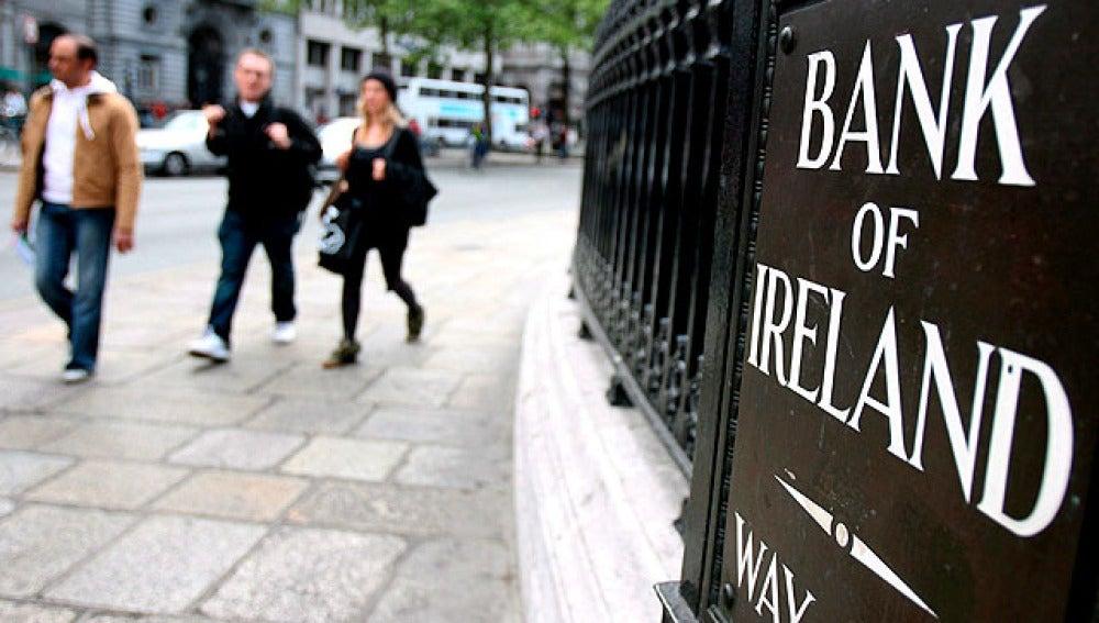 Fachada del Banco de Irlanda en Dublín