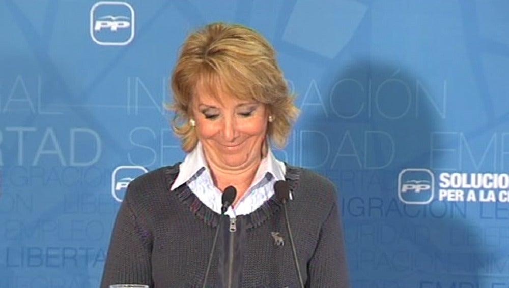 Aguirre habla en catalán