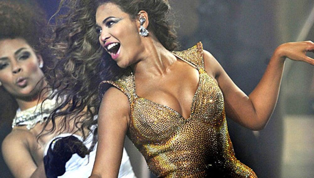 Beyoncé durante un concierto