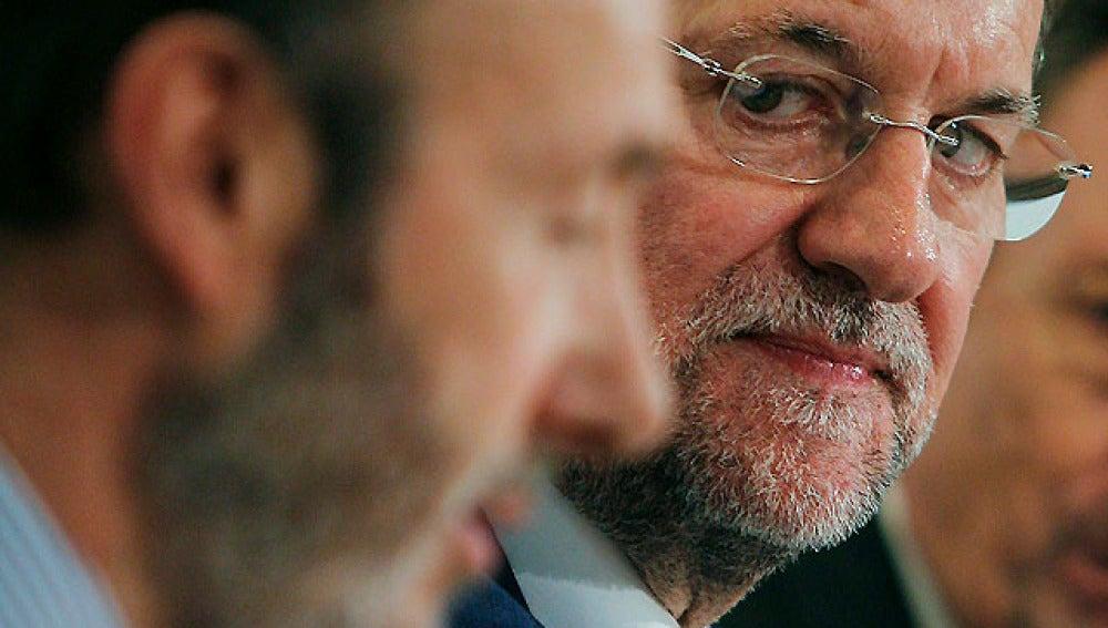 El candidato socialista con el líder de la oposición