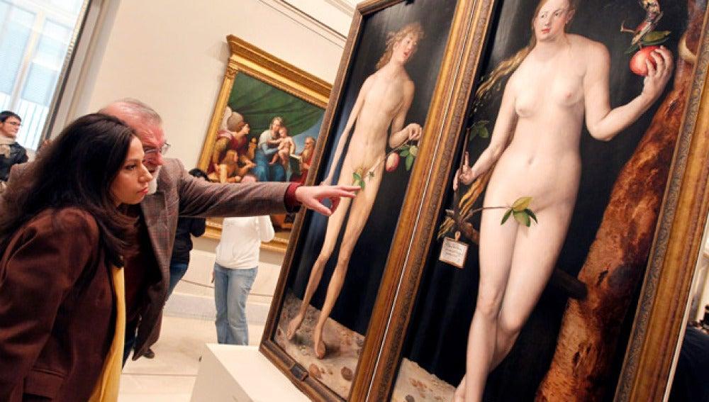 Restauración del Adán y Eva de Durero