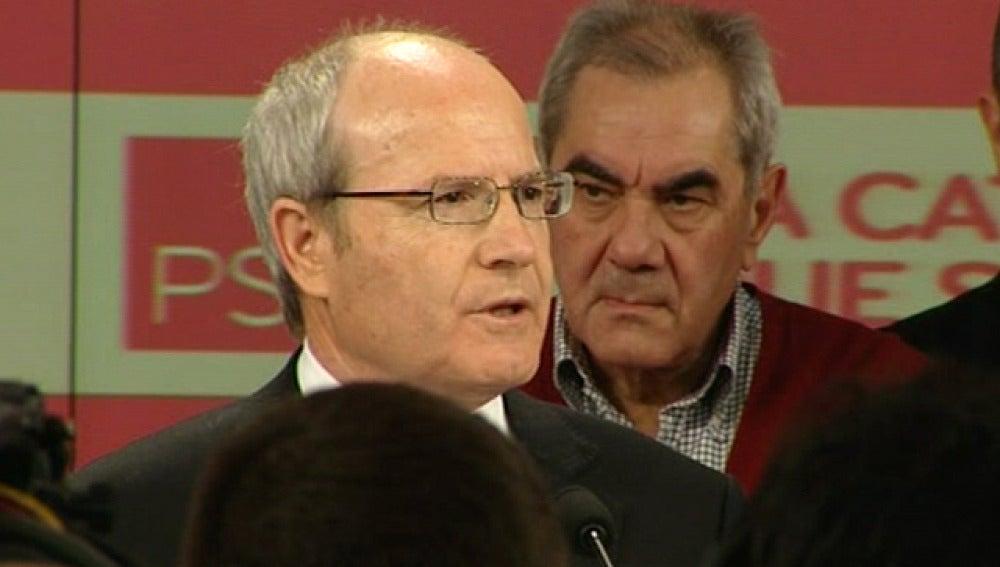 José Montilla en rueda de prensa