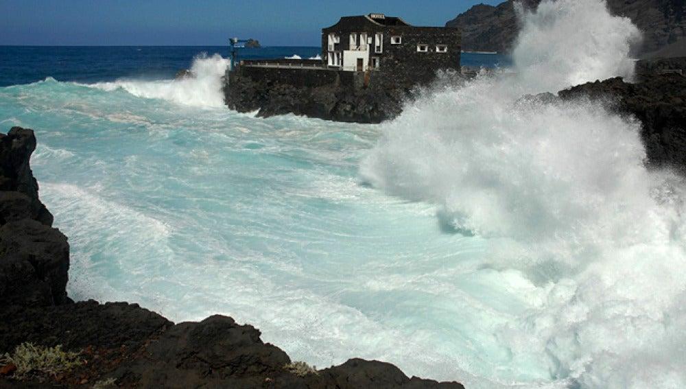 Fuerte temporal de viento en Canarias