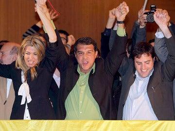 Laporta celebra su entrada en el Parlament