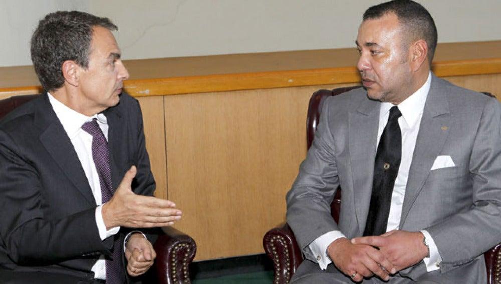 Zapatero y Mohamed VI en una imagen de archivo