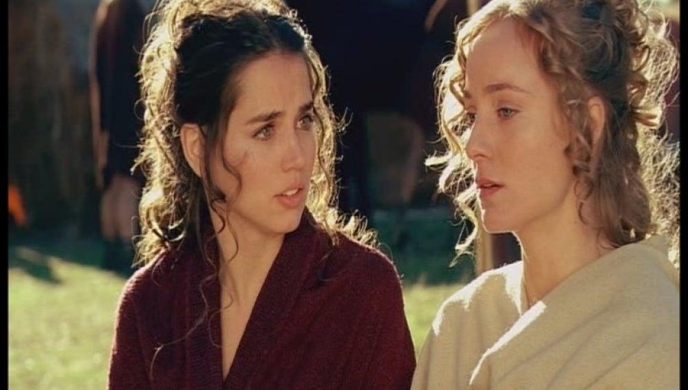 Sabina ayuda a Nerea a escapar del campamento romano