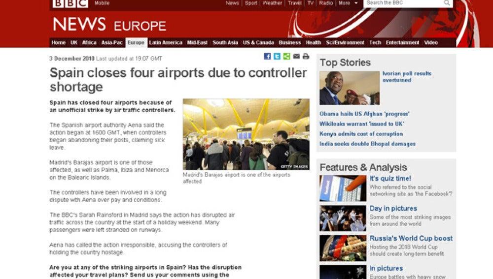 Medios extranjeros reflejan en portada el caos aéreo español