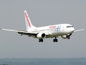 Un avión de Air Europa aterriza
