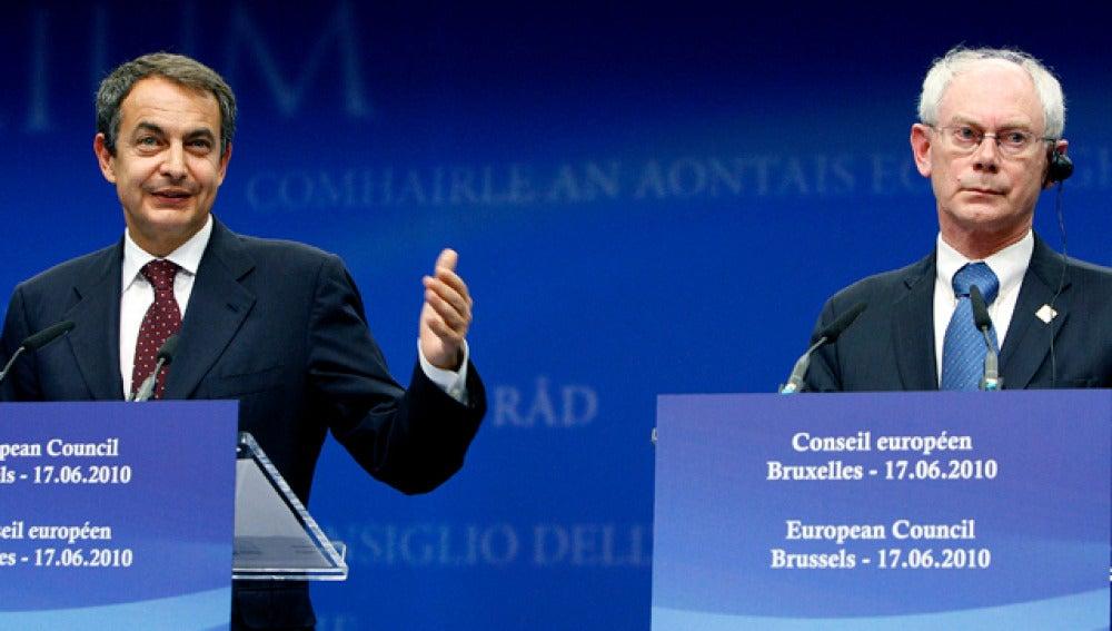 Zapatero y Herman van Rompuy analizarán la crisis