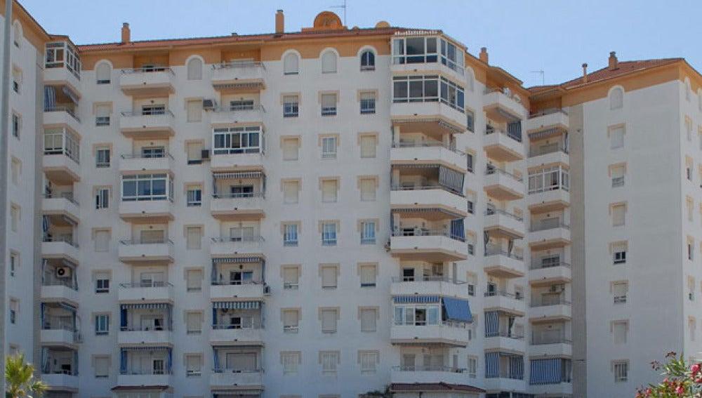 Bloques de viviendas en España.