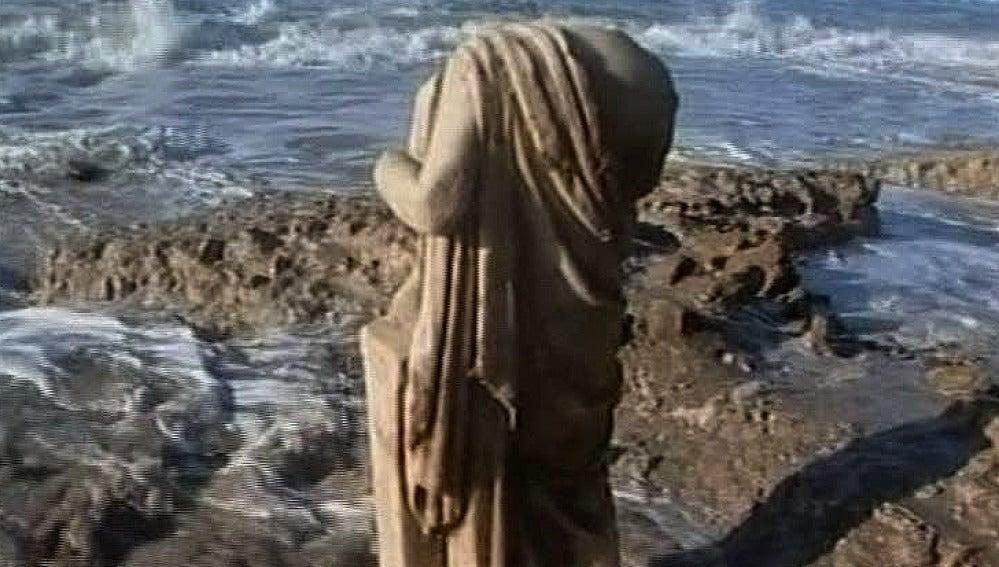 Estatua romana encontrada en Israel