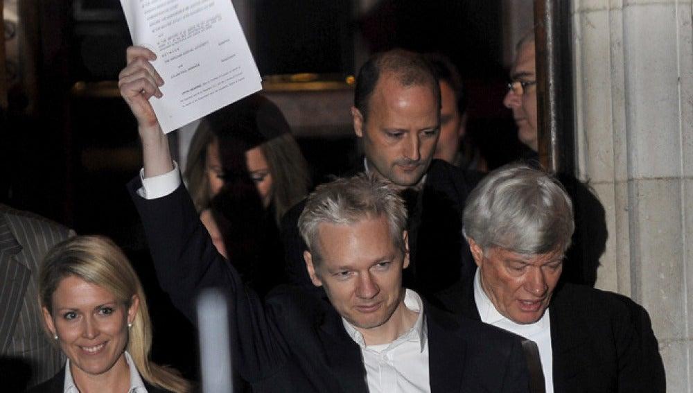Julian Assange, en libertad condicional