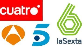 Antena 3, Cuatro, Telecinco y La Sexta