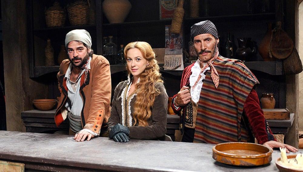 El chato ( Gaspar Écija), Sara Reeves y Juan Caballero